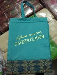 souvenir pernikahan tas yasin/kantong serut besar plastik kartu ucapan