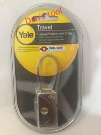 Gembok Koper Nomor Kombinasi YALE Chrome YTL1 / Luggage Padlock