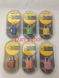 Gembok Koper Nomor Kombinasi YALE Kuning YP1 / Luggage Padlock