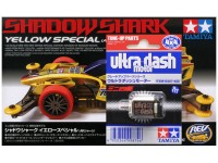 """PROMO TAMIYA SHADOW SHARK YELLOW SPECIAL & DINAMO ULTRA DASH MOTOR"""