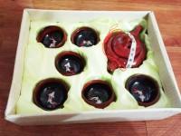 Teko + 6 cangkir teh keramik merah ikan koi chinese tea set teapot cup