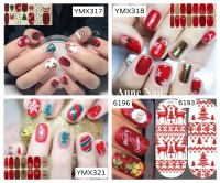 Christmas nail sticker / stiker kuku natal / sticker kuku / nail stike