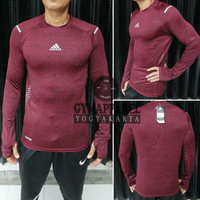 kaos tshirt manset baselayer under armour adidas longsleeve gym run