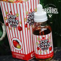 Original Popcorn man Strawberry drizzle Premium Liquid Murah