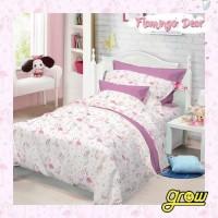 Sprei Katun Halus Flamingo Dear Pastel BW/Pink/Blue 160x200/180x200