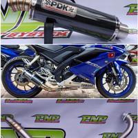 Knalpot Racing PDK Fullset Honda Tiger/Megapro/Cb150R/CBR150/CS1/Verza