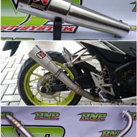 Knalpot Racing Akrapovic Gard Vixion/R15/XABRE/Byson/Scorpio/JupitMX