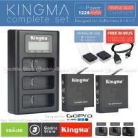 KingMa Paket Complete Baterai Charger Set GoPro Hero 5 / 6 / 7 Black