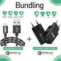 Bundling - Onix Adaptor Charger PTC-01 + PTC Gen 2 Usb Type C Cable