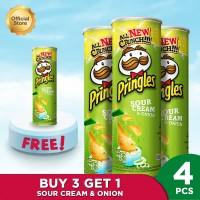 Pringles Sour Cream & Onion 107gr Package (4 Pcs)