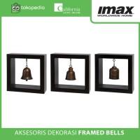Aksesoris Dekorasi Import Framed Bells Set of 3 By Imax Home