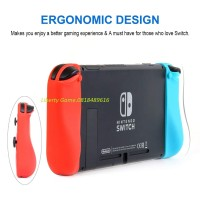 NINTENDO SWITCH SILICON CASE THICK NEON BLUE/NEON RED FREE ANTI GORES
