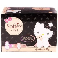 Softex Hello Kitty 2 in 1 - 20 Pads Pembalut Wanita 2in1