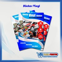 Kertas Sticker Vinyl A4 Inkjet / Stiker Vinil / Vynil