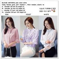 Baju Atasan Kemeja Wanita Putih Blouse Korea Import AB434846 Tunik