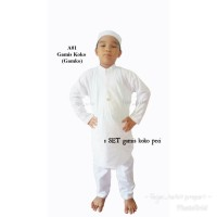baju koko anak putih muslim premium gamis pakistan anak laki