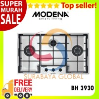 Kompor Tanam Modena Stainless Built-In Hob Gas 3 Tungku BH 3930