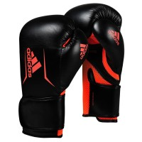 Sarung Tinju Muaythai Adidas Speed 100 Boxing Gloves Black Solar Red