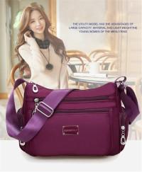 Popular Fashion Women Nylon Shoulder Bag / Tas Selempang waterproof J2