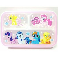 Kotak Makan Bekal Grid Bento Lunch Box Yooyee My Little Pony Pink