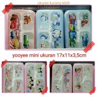 kotak makan yooyee ukuran mini karakter cars dan doraemon