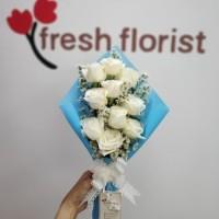 Hand Bouquet Buket bunga Wisuda/ bunga mawar - bucket bunga