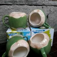 """gelas keramik """"MUG KELAPA"""""""