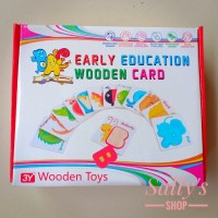 Mainan edukasi Anak Early education Wooden Card Alphabet/Number Count