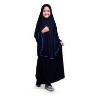 BAJUYULI Baju Gamis Anak Perempuan Syari Jersey Murah Navy - JSNV01