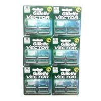 Gillette Vector Isi Ulang 4 Cartridge Hemat - isi 6