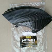 tutup cover filter hawa carbon yamaha NMAX merk NEMO