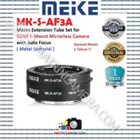 MEIKE MK-S-AF3A Macro Extension Tube Set for Sony E-Mount Mirrorless