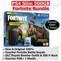 PS4 Slim 500GB Fortnite Bundle Edition Playstation garansi SONY