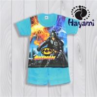 Setelan Anak 1-5 th Superhero Batman Kaos Anak Laki-Laki Lengan Pendek