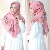 jilbab hijab kerudung bergo instan ralia bubblepint motif bunga cantik