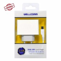Travel Charger Dual usb 2.1A Wellcomm Original Product