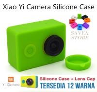Silicon Xiaomi Yi Silicone Soft Protect Karet Case Cover Skin Lens Cap