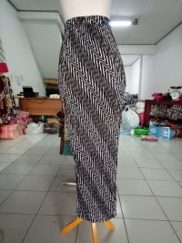 Rok Plisket Rhea Panjang Maxi Batik Jumbo Wanita