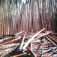 Bambu cendani, bahan/pangkal joran. Bambu cendani proses