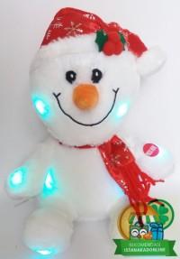 Boneka Natal Salju Snowman Sitting Lighting Lampu 10H' BN004020