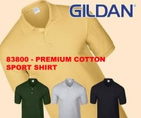 Kaos Polo shirt / kerah Gildan Premium Cotton 83800 XXL 2XL big size
