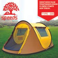 Tenda Camping Lipat Portable Otomatis Anti Nyamuk Hiking 4-5 orang 006