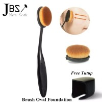 JBS New York Make Up Brush Kuas Oval Free Tutup