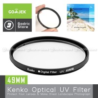 Kenko UV Filter 49MM for Canon M10 M100 M50 Etc with Lens Kit 15-45MM