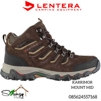 Sepatu Gunung Karrimor Mount Mid 42 Brown Waterproof not Gelert. Eiger