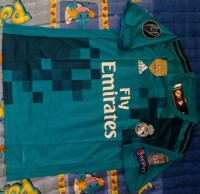 Jersey Real Madrid 3rd 2017/2018 Full Patch UCL 2018