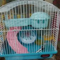 kandang hamster 157 rumah, roda dan botol minum hamster