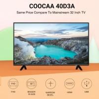 COOCAA 40D3A LED TV 40 inch - Full HD Panel - Slim - USB/HDMI