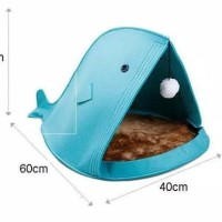 Bed Pouch Fish - Tempat Tidur Kucing Anjing Model Ikan Pet Bed Cat Dog