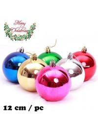 Dekorasi Hiasan Bola Pohon Natal Besar Murah Christmas 12 Cm / pcs